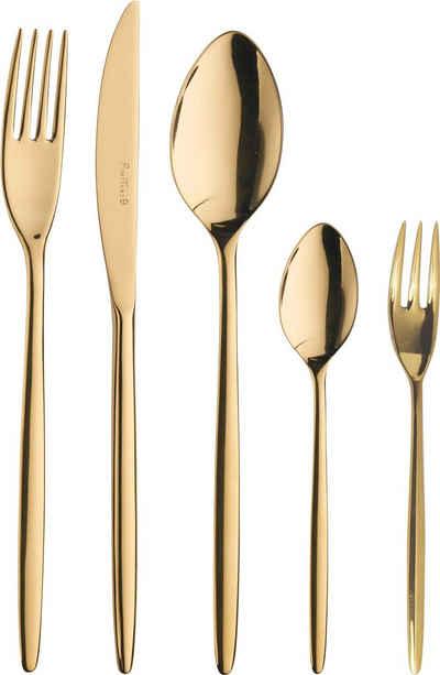 PINTINOX Besteck-Set »Olivia Treasure Gold«, Edelstahl 18/10, Optik Glänzend PVD Beschichtung, 30-teilig