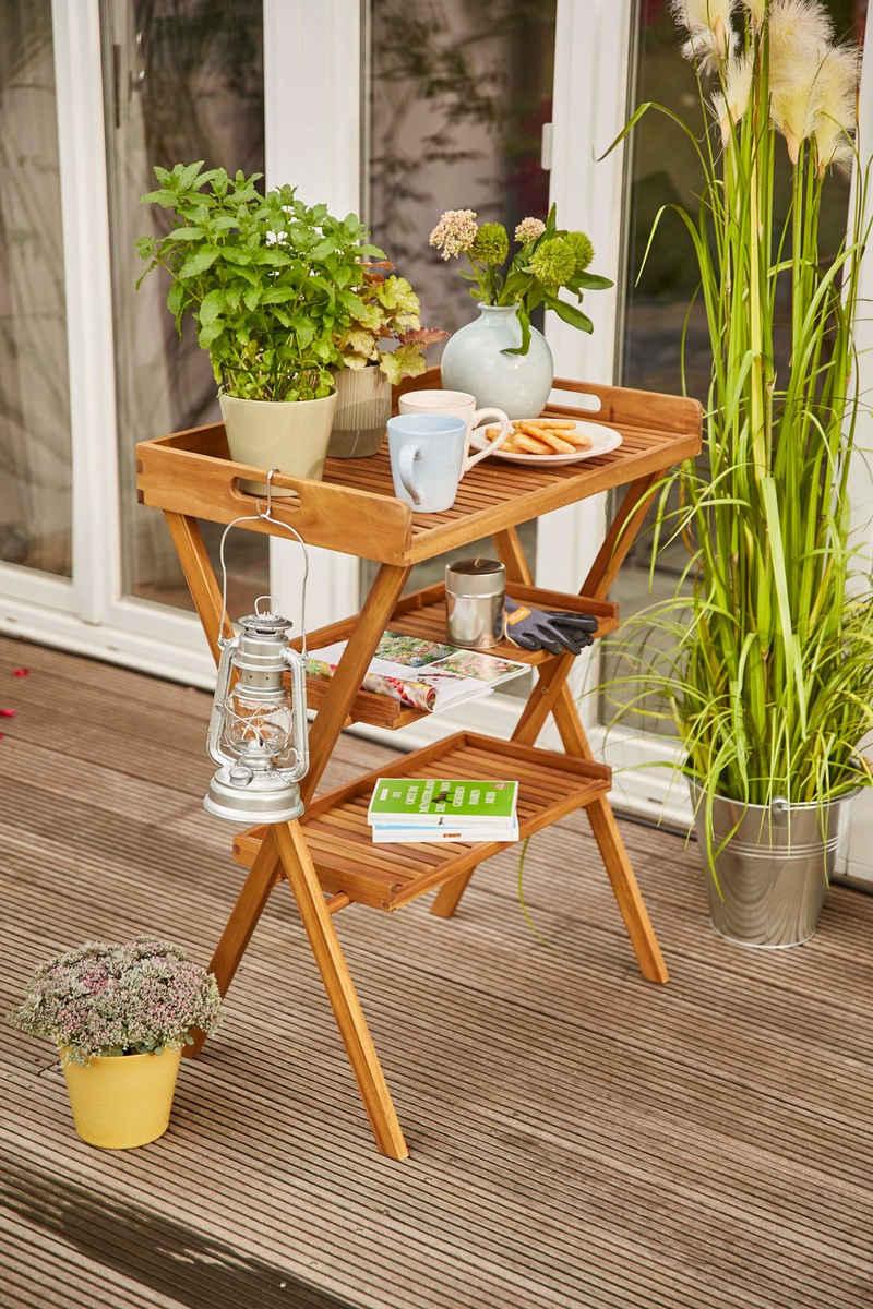 Siena Garden Tabletttisch »Caruna« (4-St), Akazie, 70x45 cm