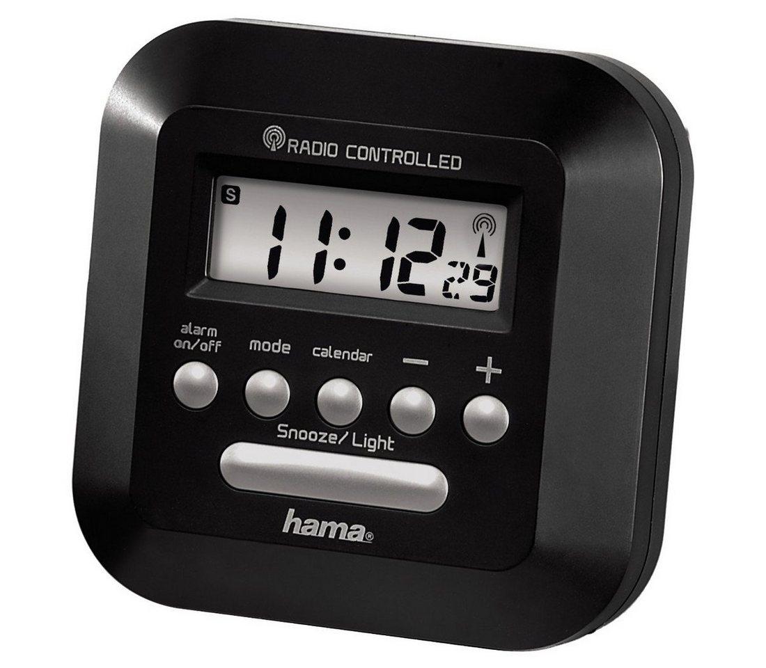 Hama Funkwecker ´´RC40´´mit Hintergrundbeleuchtung, schwarz »Uhr-/Kalender- u. Weckfunktion«