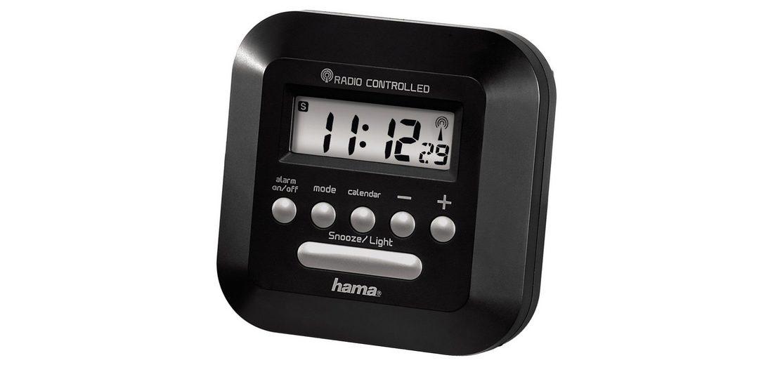 """Hama Funkwecker """"RC40""""mit Hintergrundbeleuchtung, schwarz »Uhr-/Kalender- u. Weckfunktion«"""