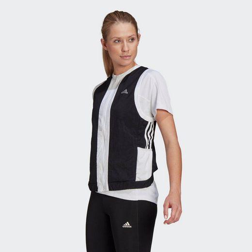 adidas Performance Funktionsweste »Own The Run 3-Streifen Weste«