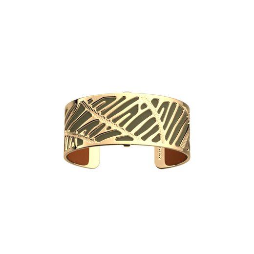 Les Georgettes Armspange »25G-Zebrures-Kak/Cog«, Bundle - Gold25mmZebrures inkl. LedereinsatzKaki/Cognac