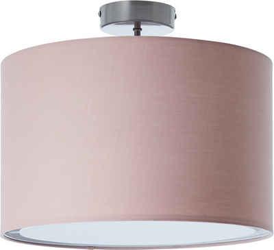 Lüttenhütt Deckenleuchte »Lüchte«, Deckenlampe mit Stoffschirm rosa / rosé, Ø 40 cm, Höhe 32 cm
