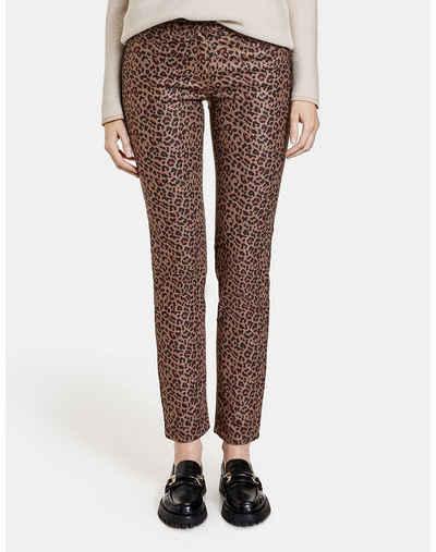GERRY WEBER Stretch-Jeans »Hose mit Leodessin« (1-tlg) Hose