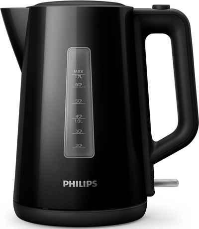 Philips Wasserkocher Series 3000 HD9318/20, 1,7 l, 2200 W, schwarz