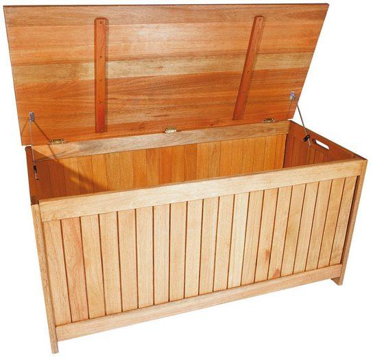 MERXX Auflagenbox 125x56x62 cm, Eukalyptusholz