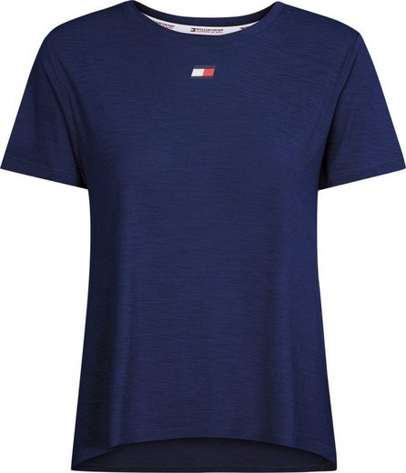 TOMMY SPORT T-Shirt »PERFORMANCE LBR TOP« mit Tommy Sport Logo-Flag & Schriftzug