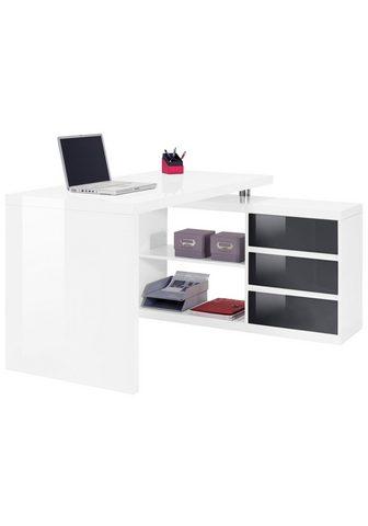 HMW Collection Rašomasis stalas »Split« su spintelė i...