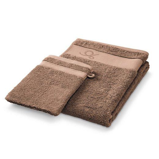 EASYmaxx Handtuch Set (2-tlg), DESCAMPS Handtuch, Waschlappen, cacao