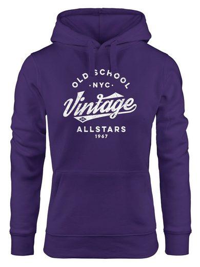 Neverless Hoodie »Hoodie Damen College Style Schriftzug Oldschool Vintage Allstars Kapuzen-Pullover Fashion Streetstyle Neverless®«