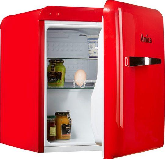 Amica Table Top Kühlschrank KBR 331 100 R, 50,7 cm hoch, 43,5 cm breit