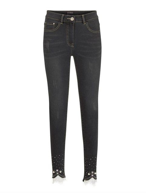 Hosen - Amy Vermont Slim fit Jeans mit Spitze und Strasssteindekoration ›  - Onlineshop OTTO
