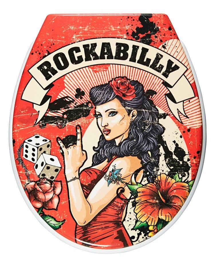 ADOB WC-Sitz »Rockabilly«, Mit Absenkautomatik