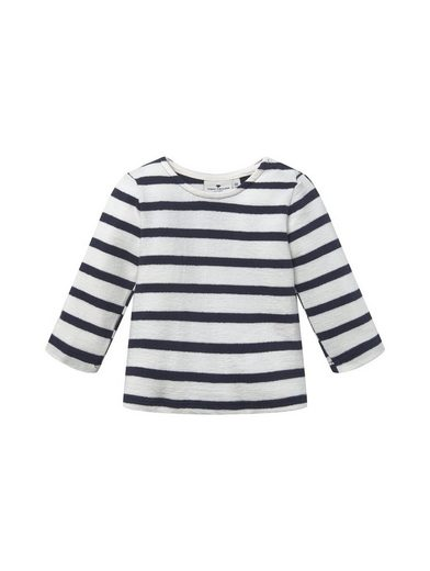TOM TAILOR Langarmshirt »Gestreiftes Sweatshirt«