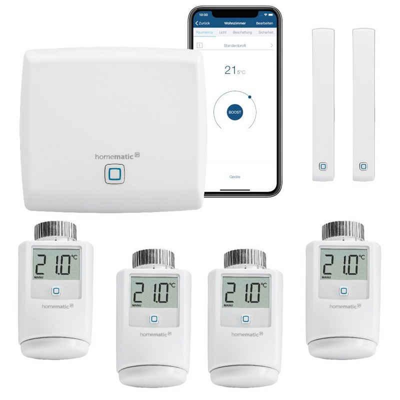 Homematic IP »Set FUNK Heizungssteuerung zur Einzelraumregelung für 4 Heizkörper. Mit kostenloser Smartphone App. Kompatibel mit Alexa und Google Home.« Smart-Home Starter-Set