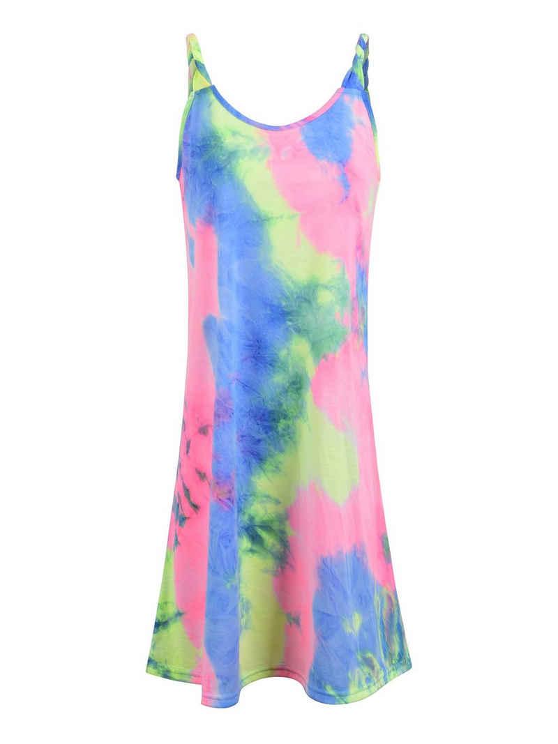 LAPA Unterkleid »Damen Tie-Dye Twist Strap Swing Kleid Ärmelloses Casual Minikleid«