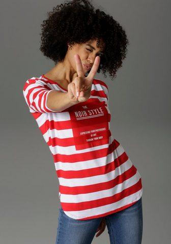 Aniston CASUAL 3/4-Arm-Shirt su Statement Schriftzug