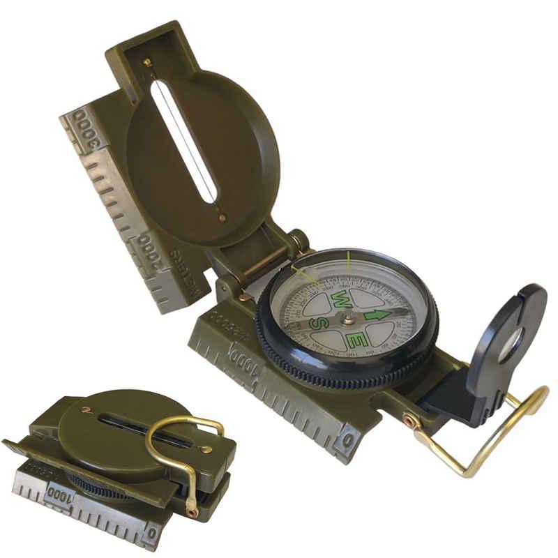 IVSO Kompass »Militär Marschkompass, Professioneller Taschenkompass Peilkompass Kompass Compass«, mit Tragschlaufe für Jagd Wandern und Aktivitäten Camping im Freien, Wasserfest und Stoßfest