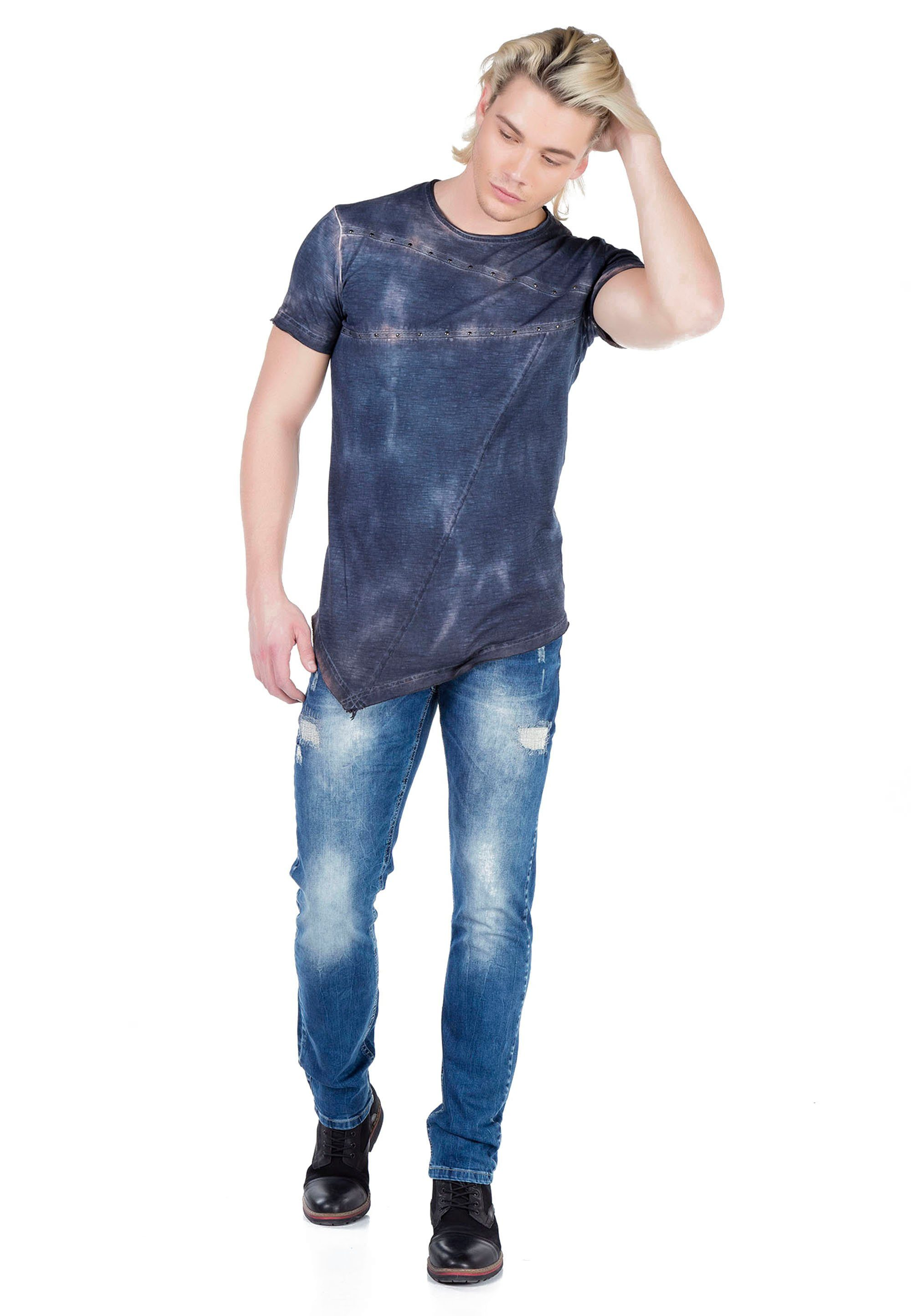 Cipo & Baxx T-Shirt CT325 mit asymmetrischem Schnitt y1TlXy