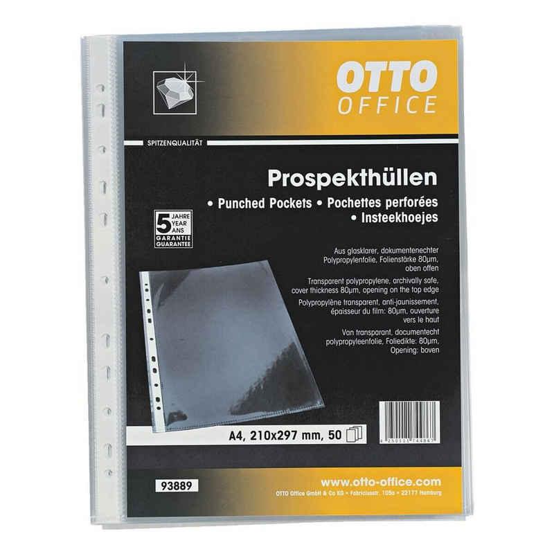 Otto Office Premium Prospekthülle »Premium«, glasklar, Format A4 mit Multilochung und Öffnung oben
