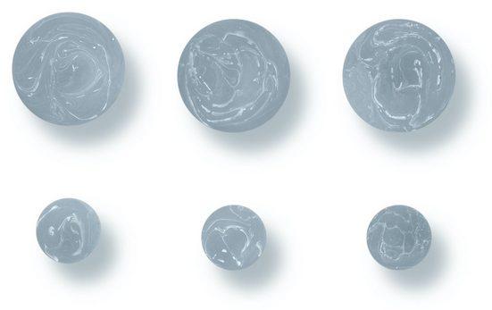 Libaro Garderobenhaken »Higgins«, marmoriert, 6er-Set aus 3 großen und 3 kleinen Haken