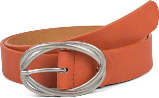 styleBREAKER Synthetikgürtel »Gürtel unifarben mit verschlungener Doppelschnalle« Gürtel unifarben mit verschlungener Doppelschnalle
