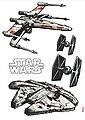 KOMAR Packung: Wandtattoo »Star Wars Spaceships«, 5-teilig, Bild 1