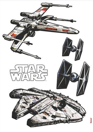 KOMAR Packung: Wandtattoo »Star Wars Spaceships«, 5-teilig