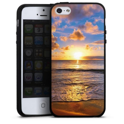 DeinDesign Handyhülle »Strand« Apple iPhone 5s, Hülle Meer Sonnenuntergang Urlaub