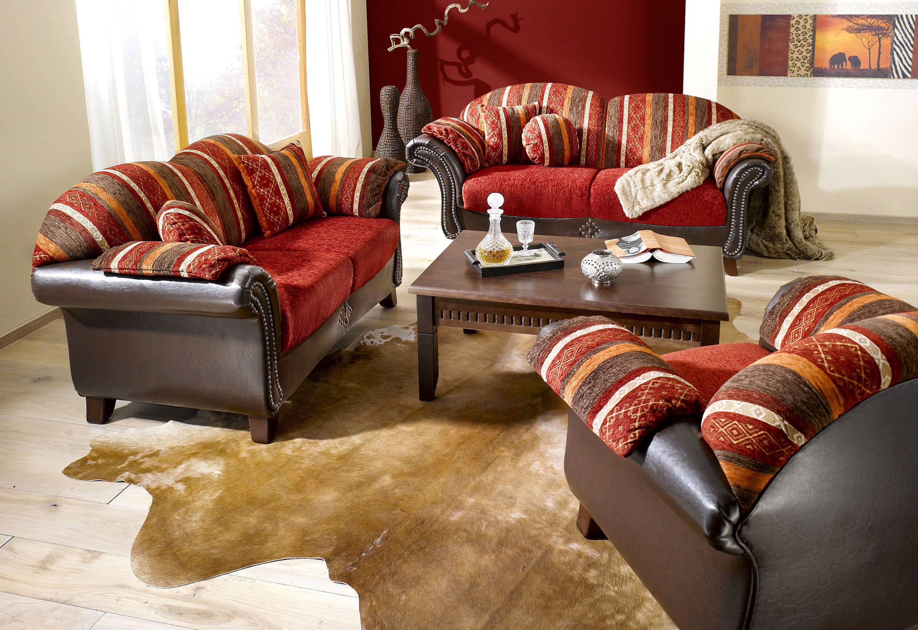 Home affaire Polstergarnitur (2-tlg.) »Colombo«, 2-Sitzer und 3-Sitzer, mit Federkern