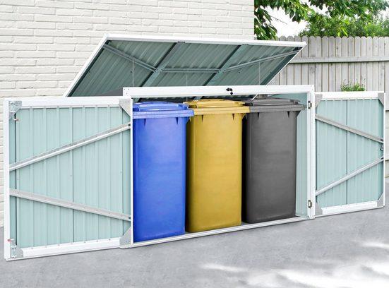 KONIFERA Mülltonnenbox »Tobi 3«, für 3x240 l, BxTxH: 233x101x134 cm