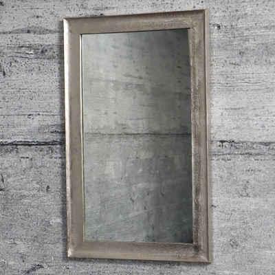 baario Wandspiegel »Wandspiegel BELLE«, silber Aluminium 90x55cm Handarbeit Antik Design Bad