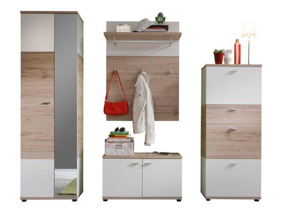 ebuy24 Kleiderschrank »Campri Garderobenaufstellung B, Eiche hell Dekor,«