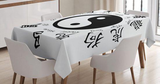 Abakuhaus Tischdecke »Personalisiert Farbfest Waschbar Für den Außen Bereich geeignet Klare Farben«, Yin-Yang Asianlism