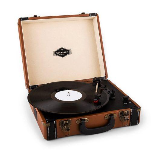 Auna »Jerry Lee Retro-Plattenspieler LP USB braun« Plattenspieler