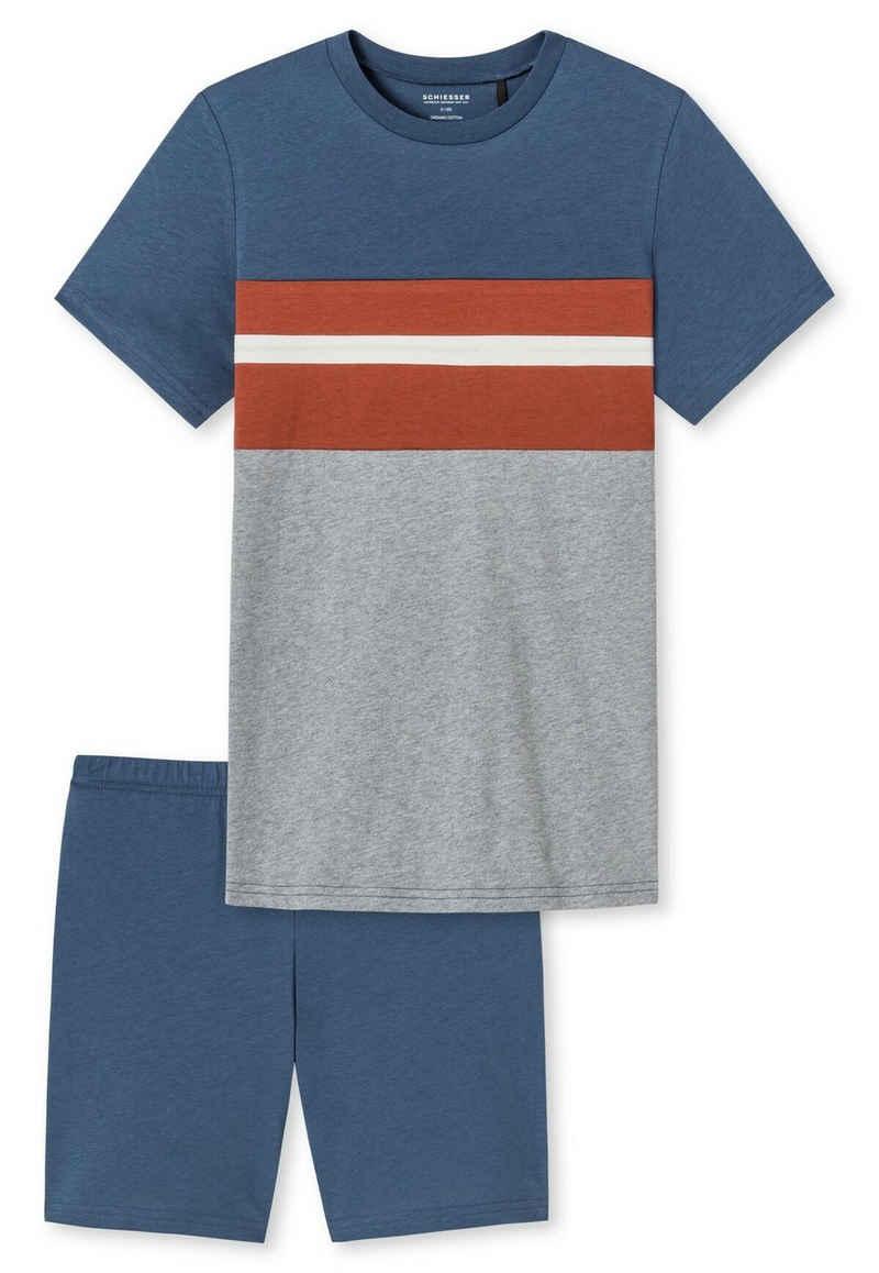 Schiesser Pyjama »Jungen Schlafanzug Set 2-tlg. - kurz, Kinder,«
