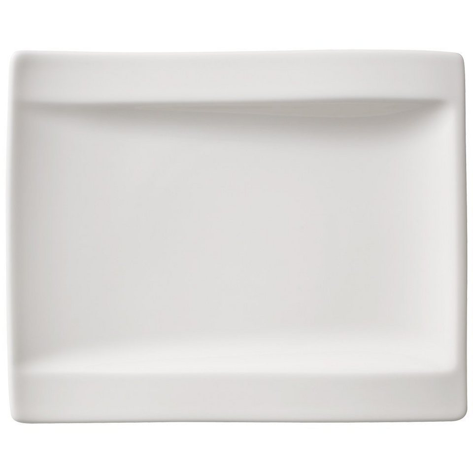 VILLEROY & BOCH Brotteller - Neu 18x15cm »NewWave« in Weiss