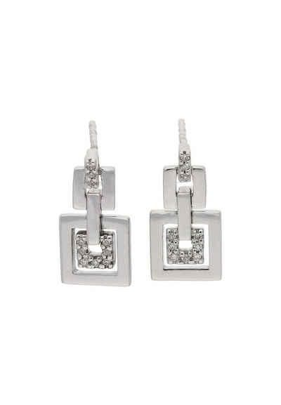 JuwelmaLux Paar Ohrstecker »Ohrstecker Weißgold mit Diamant(en)« (2-tlg), Damen Ohrstecker Weißgold 585/000, inkl. Schmuckschachtel