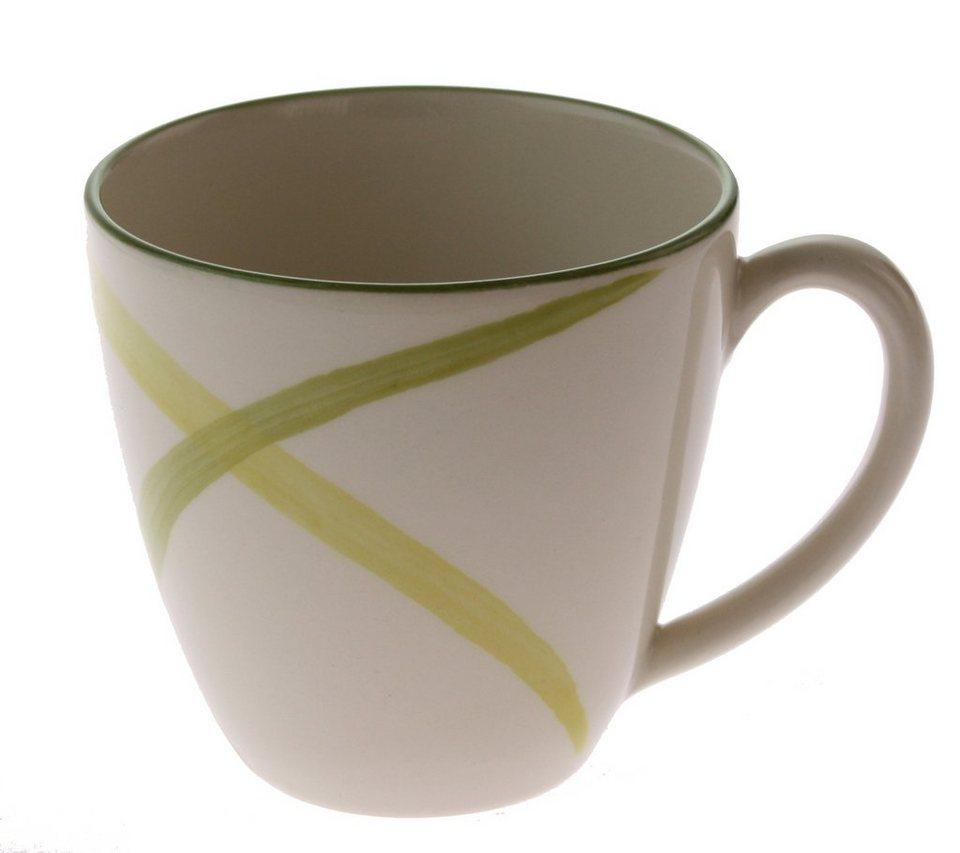 Zeller Keramik Obertasse »Ono Zoom« in Weiß