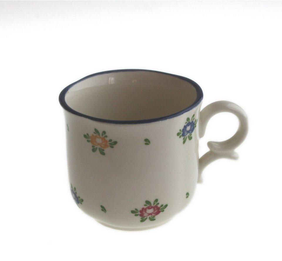 Zeller Keramik Obertasse hoch »Petite Rose« in Creme