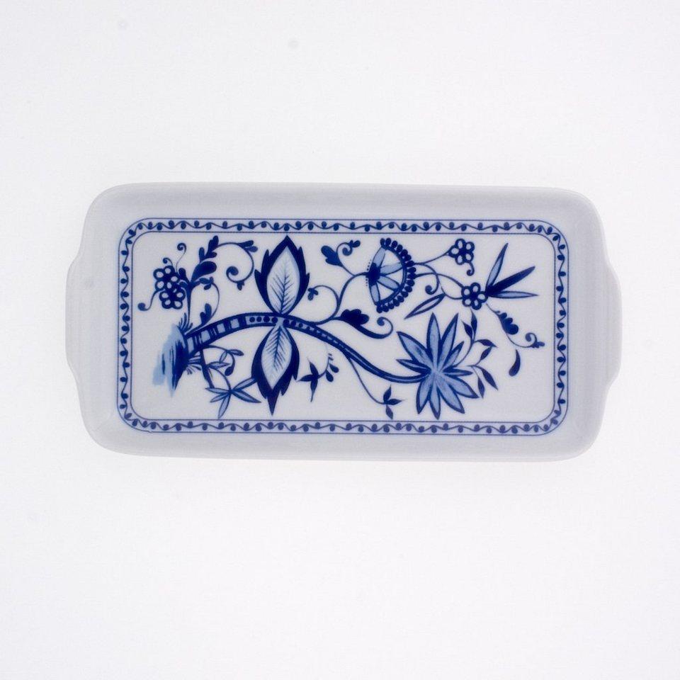 Kahla Butterplatte »Zwiebelmuster« in Weiß, Blau