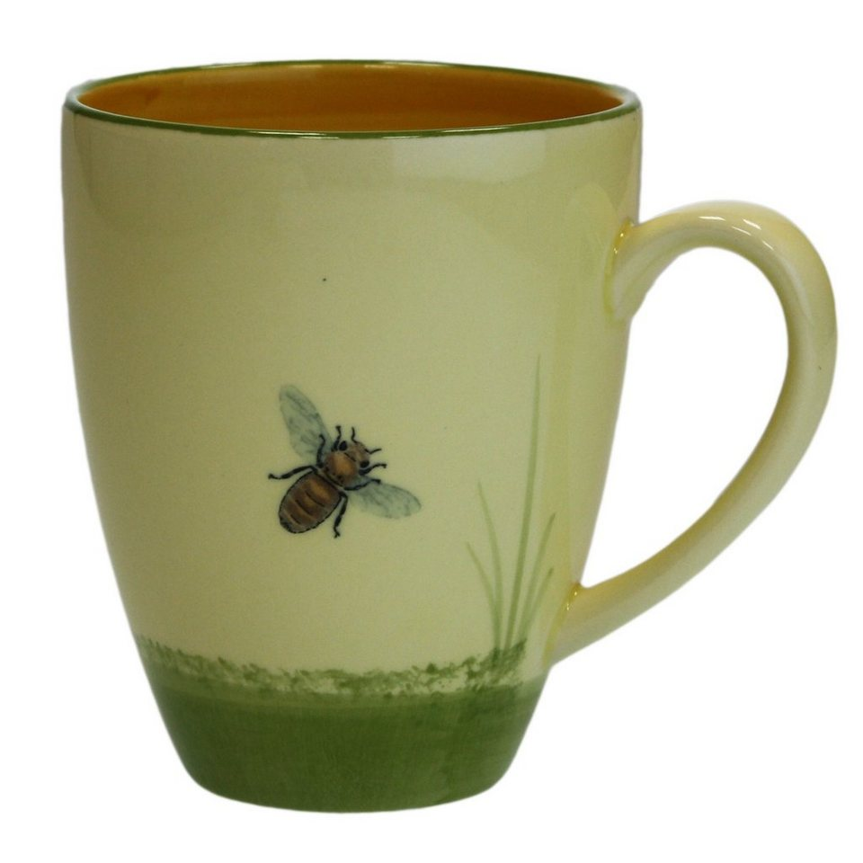 Zeller Keramik Milchkaffee Obertasse »Biene« in Mehrfarbig