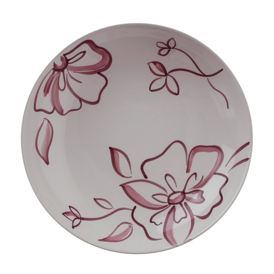 Zeller Keramik Teller tief »Ono Cara« in Weiß