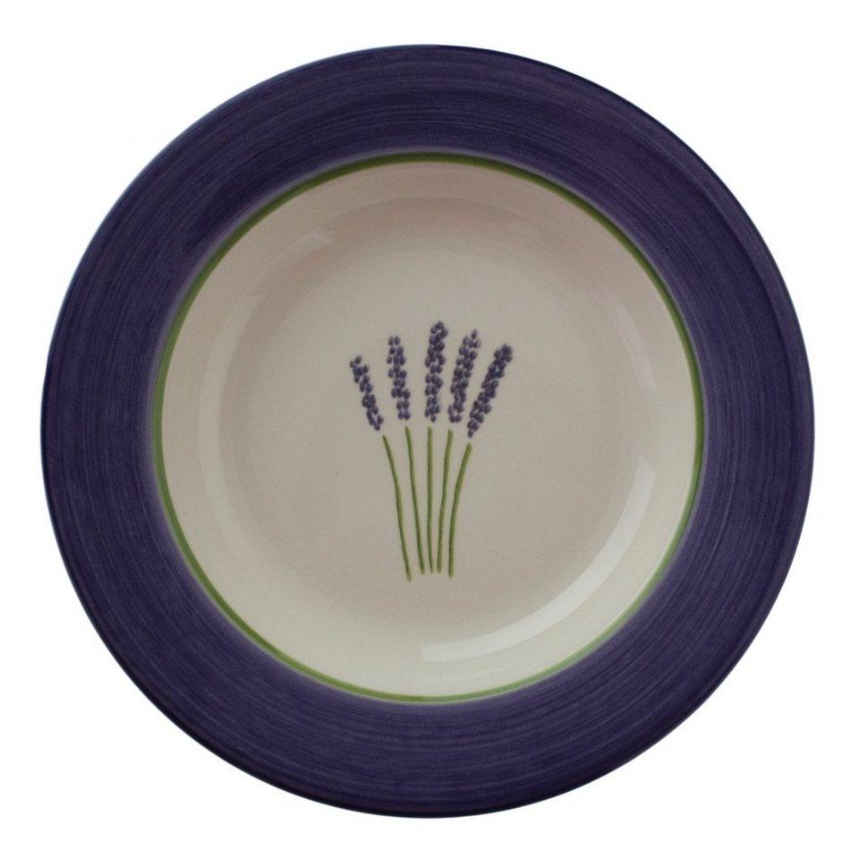 Zeller Keramik Suppenteller »Fleur de Provence« in Weiß