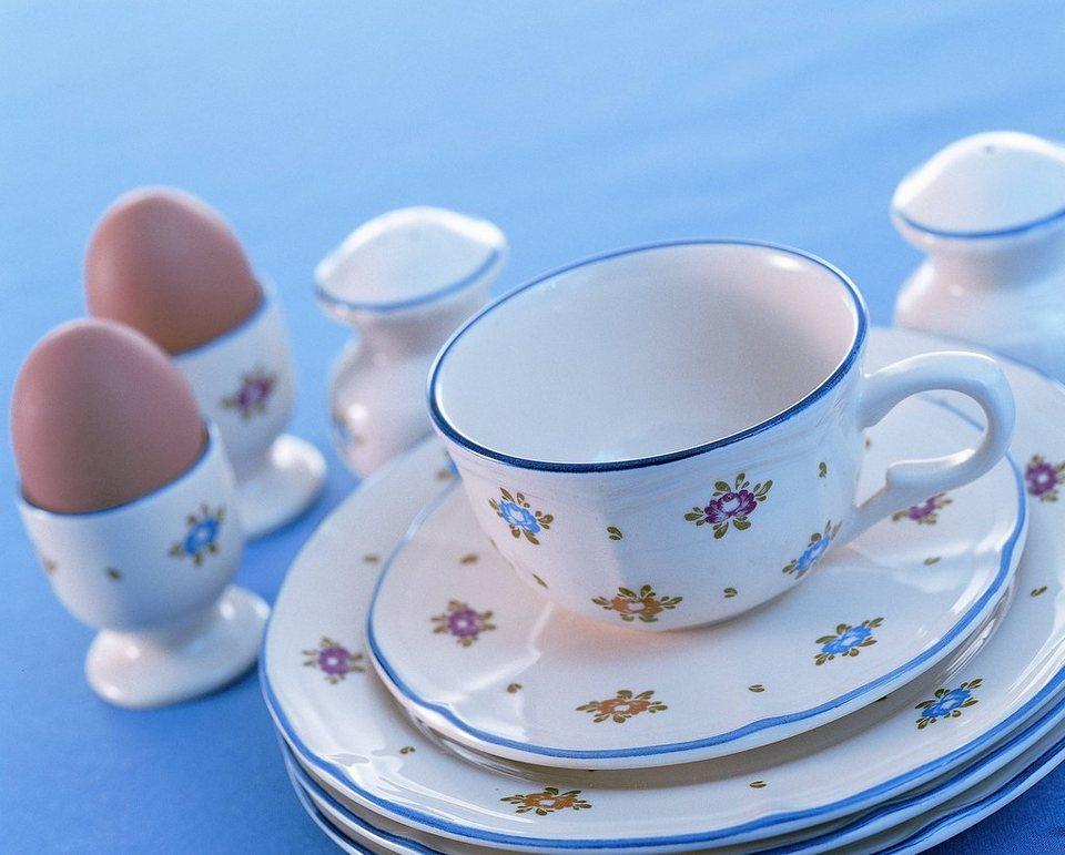 Zeller Keramik Tortenplatte »Petite Rose« in Creme