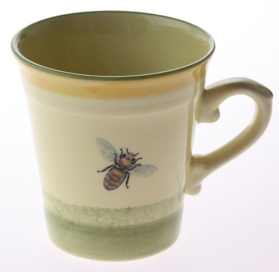 Zeller Keramik Obertasse hoch »Biene« in Mehrfarbig