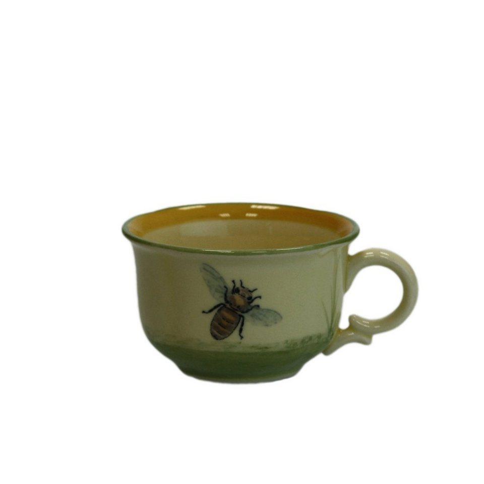 Zeller Keramik Espresso Obertasse »Biene« in Mehrfarbig