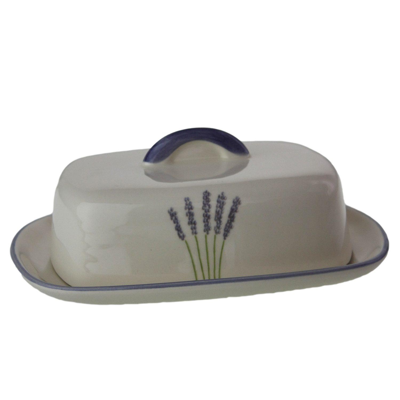 Zeller Keramik Butterdose mit Knauf »Fleur de Provence«