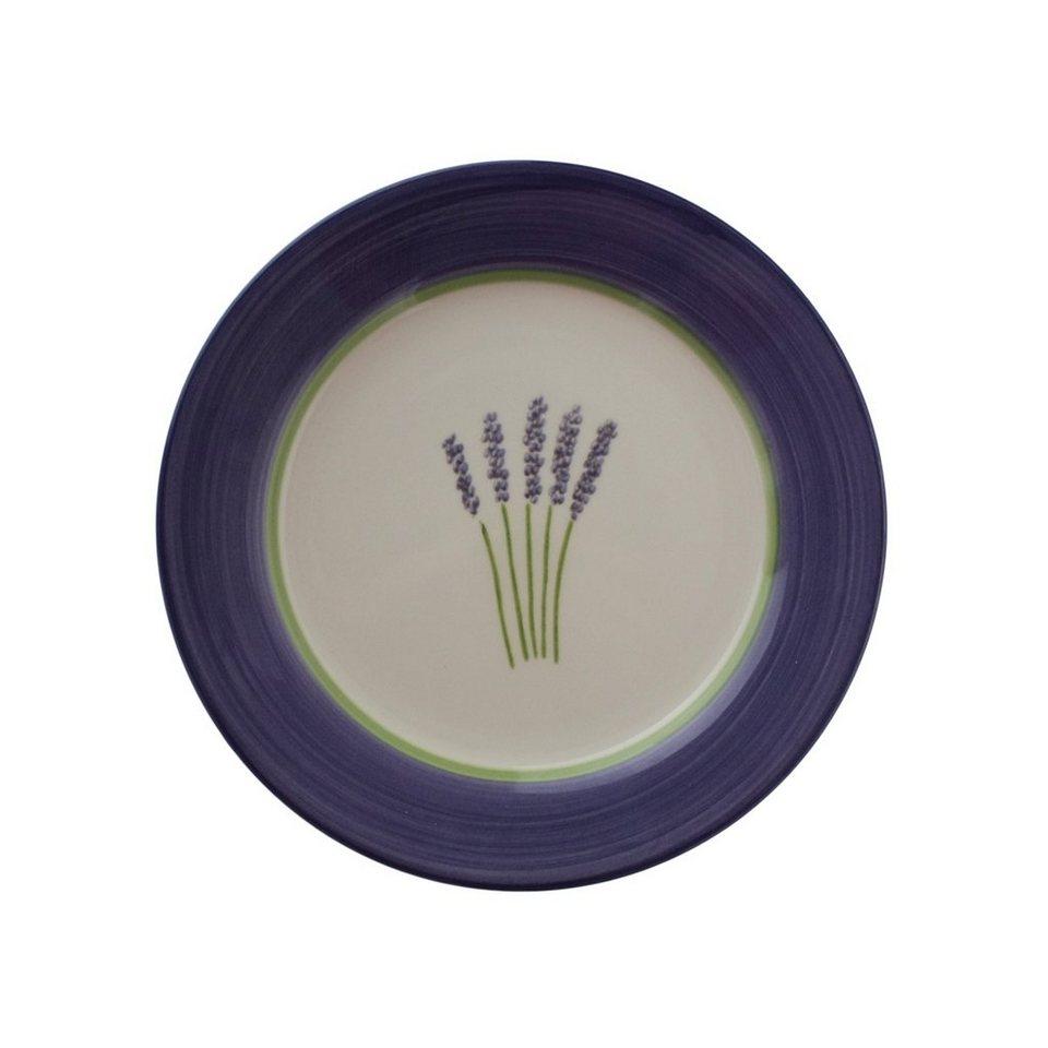 Zeller Keramik Teller flach »Fleur de Provence« in Weiß