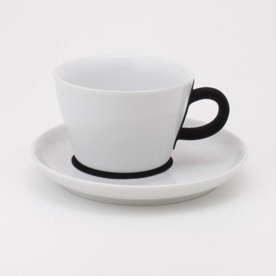 Kahla Cappuccino-Gedeck 2-tlg. »Five Senses Touch« in Weiß, Schwarz